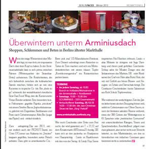 """Der Zeitungsartikel von """"Berlin Faces"""""""